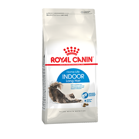 Сухой корм для домашних длинношерстных кошек Royal Canin INDOOR LONG HAIR (2 кг)